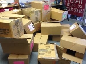 A big pile of empty boxes gives a great feeling of accomplishment.